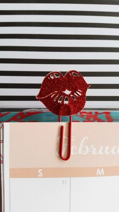 Kiss plannerclip/paperclip/bookmark/giftwrap by PaperMyLife on Etsy