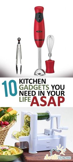 10 Kitchen Gadgets You Need in Your Life ASAP- Kitchen, Kitchen Hacks, Must Have Kitchen Tools, Kitchen Gadgets, Kitchen Appliances, Small Kitchen Appliances, Kitchen Tips, Cooking Tips and Tricks, Dream Kitchen, DIY Kitchen, Must Have Kitchen Gadgets