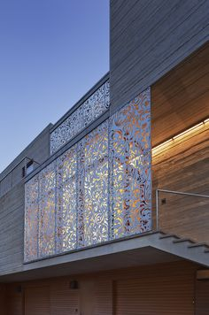 Laser-Cut Metal Panels: modern exterior by aamodt / plumb architects Laser Cut Screens, Laser Cut Panels, Laser Cut Metal, Metal Panels, Modern Exterior, Exterior Design, Detail Architecture, Modern Porch, Modern Entry