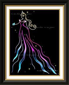 Disney Princess Aurora Fashionista Canvas Wall Art