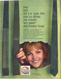 """Cravate """"vert galant"""", club création Tergal - Jours de France, 9 mai 1964"""