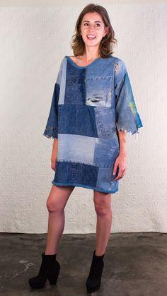 SilkDenim Sarah's Dress Made from 100% Recycled Denim by SilkDenim