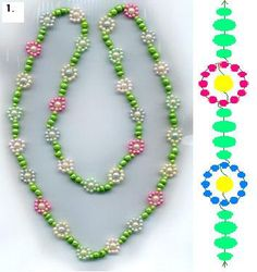 Sand necklaces made of beads