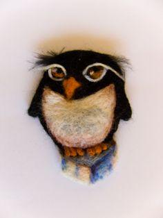 """Felt brooch """"Penguin"""" - pinned by pin4etsy.com"""