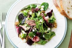 Rare Roast Beef, Beetroot and Goat's Cheese Salad