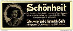 Original-Werbung/Inserat/ Anzeige 1912 - STECKENPFERD LILIENMILCH-SEIFE - ca. 50 x 140 mm