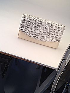 Back at the photography studio. Isly summer 14 Taanmba natural watersnake & cream cow leather clutch. Legal in CA- yayyy!! #summer14 #taanmba #clutch #handbags #accessories #watersnake