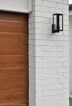 Exterior Houses, Stucco Exterior, Wall Exterior, House Paint Exterior, Marina California, Painted Garage Walls, Carriage Style Garage Doors, Painted Brick Exteriors, Home Exterior Makeover