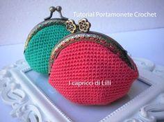 Tutorial Portamonete/Coin Purse Crochet/Uncinetto
