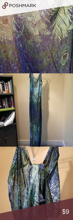 Peacock feather wrap Blue and green peacock feather scarf/wrap. Never been used Accessories Scarves & Wraps
