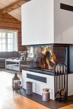 Blefjell / Gvelven - Stor og lekker familiehytte. Oppført 2013. Cabin, House Design, Interior And Exterior, World Of Interiors, Cottage, Interior, Home, Real Estate, Fireplace