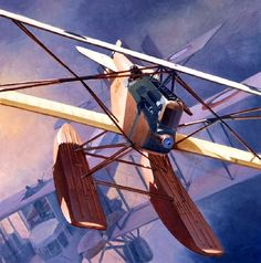 Pinturas aviación Gran Guerra — 1918 Demise of the age of sail - Steve Anderson A. Aircraft Painting, Aviation Art, Private Jet, Luftwaffe, Military Aircraft, Illustrations Posters, Fighter Jets, Airplanes, Sea Planes