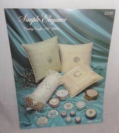 Simple Elegance Cross Stitch Contry Crafts Leaflet No. 82 Flowers Alphabet #PatWaters #PillowCoverPatterns