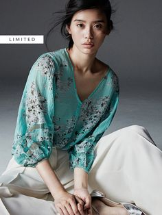 Ming Xi for Massimo Dutti 2017 Ming Xi, Opal Color, Asian Beauty, Magnolia, Stylists, Kimono Top, Bloom, Design Inspiration, My Style