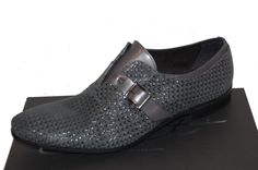 Eveet Italy Gray Loafer Buckle Dress Casual Men's Stretch Shoes Size US 13 EU 46 #Eveet #LoafersSlipOns