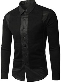 jeansian Men's Slim Long Sleeves Button Down Dress Shirts Black XS African Dresses Men, African Clothing For Men, Mens Designer Shirts, Formal Shirts For Men, Casual Wear For Men, Stylish Shirts, Mode Outfits, Slim Man, Shirt Style