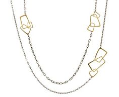 Rosanne Pugliese  Geometric Long Chain Necklace