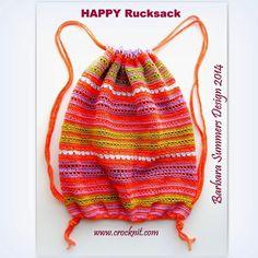 MICROCKNIT CREATIONS: HAPPY Rucksack - FREE Crochet PATTERN - PART 1