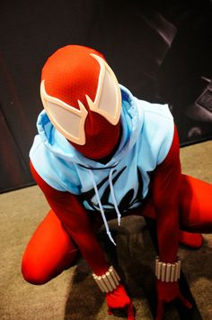 scarlet spider man - Pesquisa do Google Male Cosplay, Cosplay Diy, Cosplay Outfits, Best Cosplay, Cosplay Ideas, Marvel Halloween Costumes, Celebrity Halloween Costumes, Movie Costumes, Dc Comics Vs Marvel
