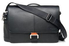 High Quality Messenger Bags by Davek - Soft Leather - Black - Laptop Bag - Bags for Men