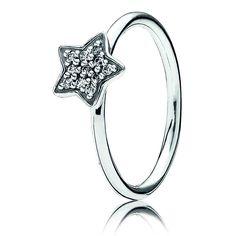 Pandora Clear Pavé Star Ring with CZ