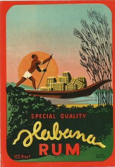 Vintage haban rum label distillery hungary 1930s