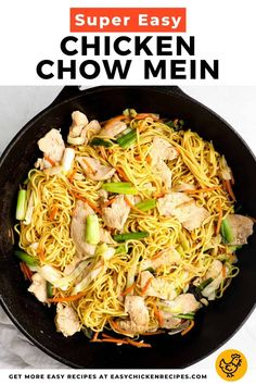 Make your favorite Chinese noodle dish at home in 30 minutes with this easy recipe. Skip the takeout, this chicken cho mein is so simple to make from scratch! Fried Chicken Tenders, Making Fried Chicken, Crispy Fried Chicken, How To Cook Chicken, Chicken Thigh Recipes, Chicken Tender Recipes, Chicken Recepies, Recipe Chicken, Healthy Chicken