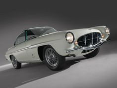 1956 Aston Martin DB2/4 Ghia SupersonicOnly one buit.   Supersonic Designs by Ghia (1953-56)  As an allusion to the car's rocketship styling, the Supersonic design first appeared on a Conrero-tuned Alfa Romeo 1900, which was entered in the 1953 Mille Miglia. http://www.carstyling.ru/en/car/1956_aston_martin_db2_4_mk_ii_supersonic/