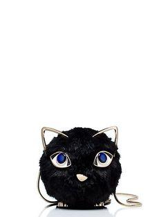 jazz things up fluffy cat bag, black, kate spade