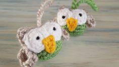 (crochet) How To - Crochet A Small Owl, video tute, UK. Thanks so xox  ☆ ★   https://www.pinterest.com/peacefuldoves/