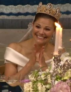 Crown Princess Victoria at the wedding