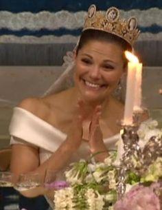 Crown Princess Victoria at the wedding