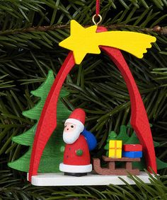 Another great find on #zulily! Wood Santa Arch Ornament #zulilyfinds