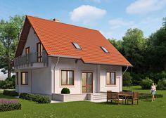 LK&649 Dom jednorodzinny, parterowy, z poddaszem użytkowym. Szczegóły na: http://lk-projekt.pl/lkand649-produkt-707.html