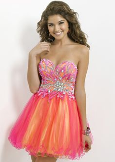 Blush Prom 9721 Strapless Party Dress