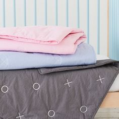 #trendtip Your nursery doesn't have to lack style. Opt for geometrics over traditional baby patterns for a look you'll love. #ontrend #home #style #baby #nurseryinspo #nursery #makeroomforbaby #babylove #instapic
