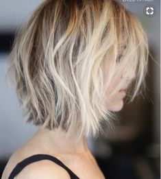 Great Hair Color Option: Balayage on Bob Haircuts, Messy Blonde Hair . Short Curly Hairstyles For Women, Wavy Bob Hairstyles, Short Hair Cuts, Curly Hair Styles, Bob Haircuts, Brunette Hairstyles, Messy Blonde Hair, Dark Hair, Short Blonde