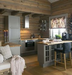 Log Cabin Cabinets Log Cabin Interior Paint Colors Small Cabin Decorating Ideas And Inspiration Kitchen Design Ideas Cabin Kitchens Log Cabin Kitchen Cabinet Hardware Small Cabin Interiors, Cottage Interiors, Small Log Cabin, Log Cabin Homes, Cozy Cabin, Small Cabin Decor, Small Cabins, Modern Log Cabins, Rustic Cabins