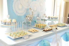 Love the tablescape for a baptism party