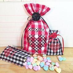 Beth Watson Design Studio: No Sew Faux Cross Stitched Valentine's Gift Bags!