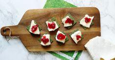 WM-Snacks: Französische Algensnacks - Algencracker mit Brie Cracker, Brie, Feta, Dairy, Cheese, Seaweed