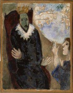 Joseph explains the dreams of Pharaoh (Genesis XLI, 25 28 32) - Marc Chagall