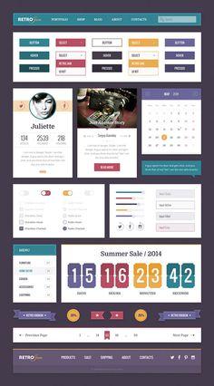 Retro Jam UI Kit
