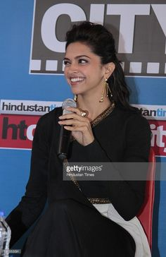 Indian Bollywood actor Deepika Padukone during an exclusive interview for the promotion of upcoming movie Ram-Leela at HT Media Office on November 8, 2013 in New Delhi, India. Ram-Leela is a hindi romantic-drama film directed and produced by Sanjay Leela Bhansali. The movie is expected to release on 15 November 2013.