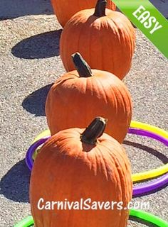 Fall Festival Game - Pumpkins in a Row