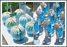 smurf party image | Blue Smurf Food Ideas (although this is not a Smurf party, there are ...