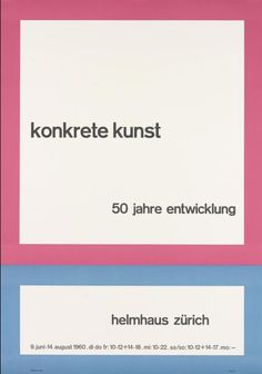 Max Bill — Konkrete Kunst, 50 Jahre Entwicklung (1960)