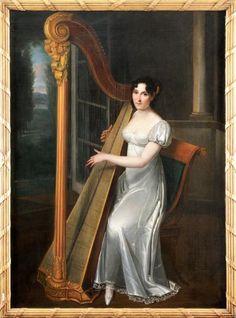 Portrait of Josephina-Fridrix Henri-François Riesener Family Painting, Woman Painting, Empress Josephine, Napoleon Josephine, Regency Dress, Regency Era, Woman Sketch, 1800s Fashion, Old Paris