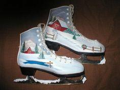 .painted ice skates