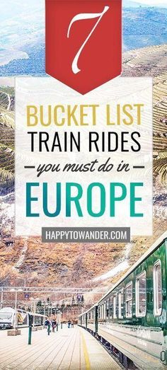 7 Jawdropping Train Rides You Can't Miss in Europe – Travel Addicts 7 Jawdropping Train Rides You Can't Miss in Europe The most beautiful and scenic train rides in Europe! Don't miss this seriously epic rail travel bucket list on your next trip to Europe. Europe Train Travel, Europe Travel Tips, New Travel, European Travel, Europe Europe, Travel Packing, Budget Travel, Coach Travel, Europe Packing